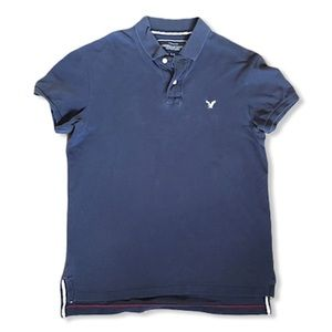 American Eagle Vintage Fit Navy Polo